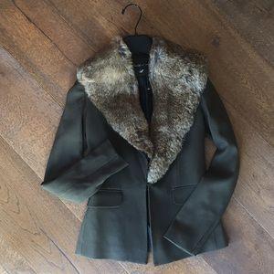 Elizabeth and James Fur Blazer Jacket